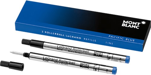 Montblanc Rollerball LeGrand Refill Pacific Blue FINE 2 pieces