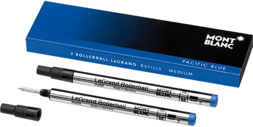 Montblanc Rollerball LeGrand Refill Pacific Blue MEDIUM 2 pieces