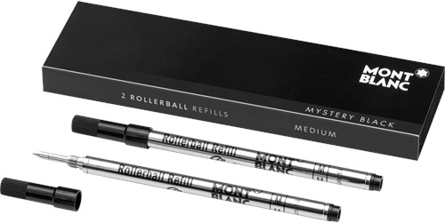 Montblanc Rollerball Refill Mystery Black MEDIUM 2 stuks