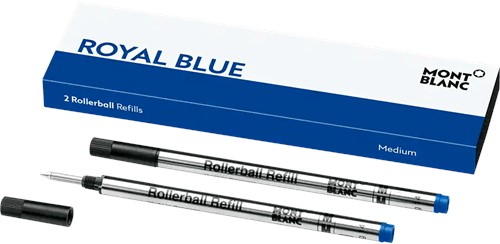 Montblanc Rollerball Refill Royal Blue MEDIUM 2 pieces