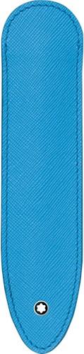 Montblanc Sartorial 1 pen sleeve China Blue leer