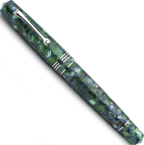 Leonardo Momento Zero Groen / Blauw en rhodium vulpen