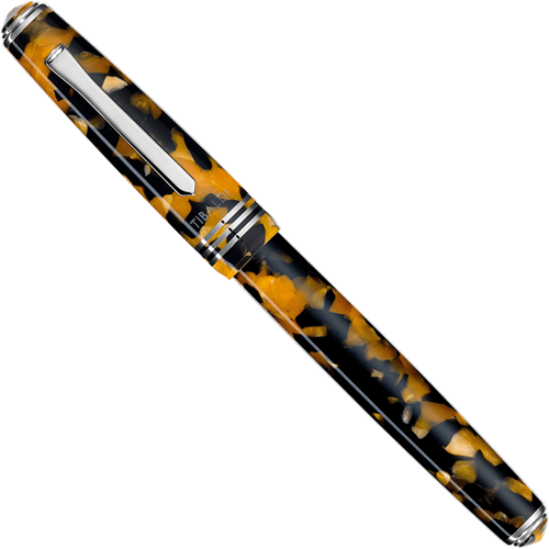 Tibaldi N60 Amber Yellow and rhodium trim fountain pen