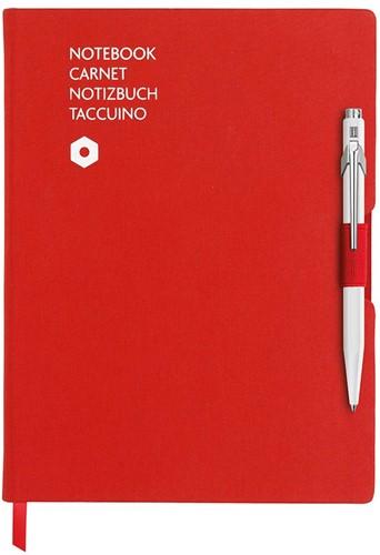 Caran d'Ache 849 Notitieboek Office A5 Rood canvas