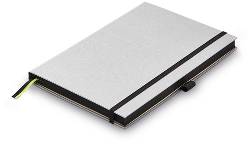 Lamy Notebook A5 hardcover black with brushed metal look cover
