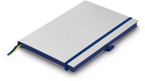 Lamy Notebook A5 hardcover ocean blue with brushed metal look cover