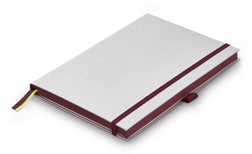 Lamy Notebook A5 hardcover dark purple with brushed metal look cover