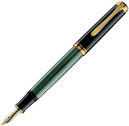 Pelikan M400 fountain pen black/green, 14k nib