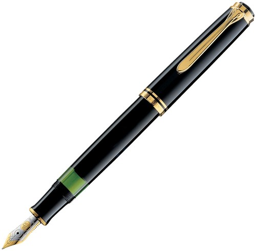 Pelikan M600 fountain pen black, 14k nib