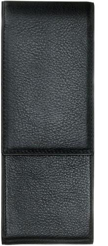 Lamy pen case for 2 pens, leather grained with velvety-matt surface