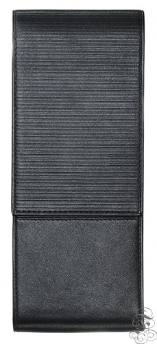 Lamy pen case for 3 pens, leather black with embossing
