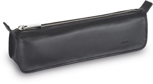 Lamy pencil case triangular black leather with zipper