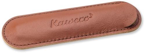Kaweco Sport for 1 pen leather penpouch brandy