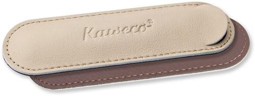Kaweco Sport for 1 pen leather penpouch creamy espresso