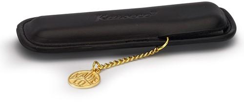 Kaweco Sport voor 2 pennen lederen etui met muntje