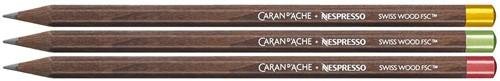 Caran d'Ache Nespresso 3 soft pencils in cardboard case