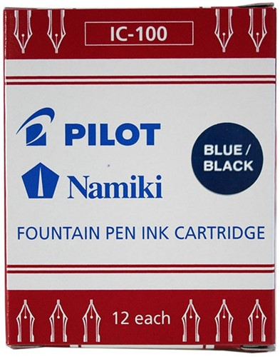 Pilot ink cartridges BlueBlack 12 pieces
