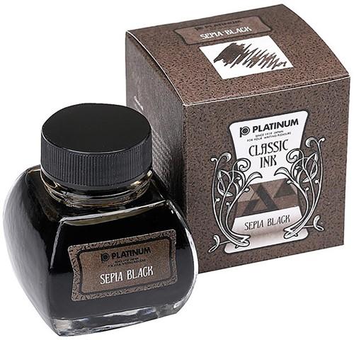 Platinum Classic inkt Sepia Black 60ml