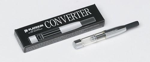 Platinum converter silver color