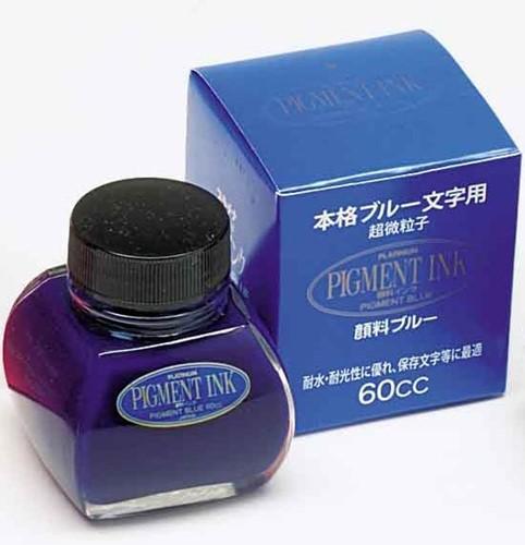 Platinum pigment inkt blauw