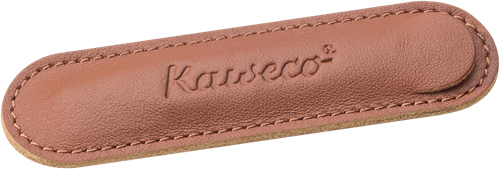 Kaweco Liliput for 1 pen leather penpouch Brandy
