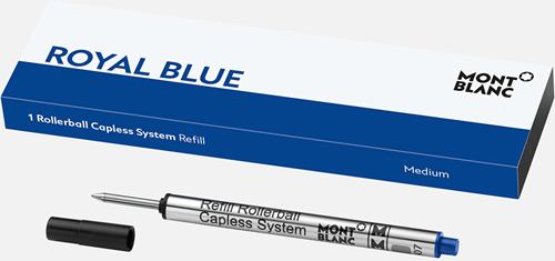 Montblanc Rollerball Capless System Refill Royal Blue MEDIUM 1piece