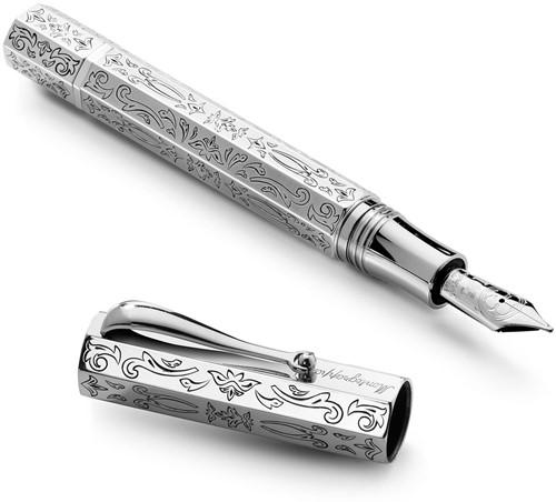 Montegrappa Reminiscence 105th fountain pen, silver, piston filling system, LE 105