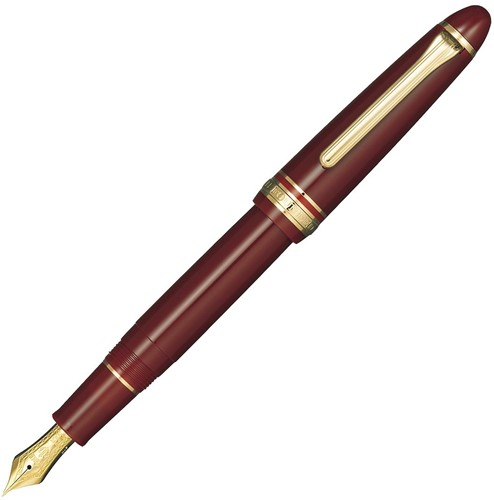 Sailor 1911 Burgundy fountain pen with gold trim