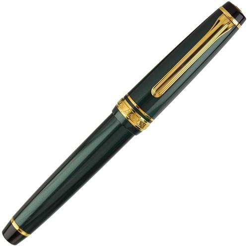 Sailor Pro Gear Slim Green fountain pen with gold trim