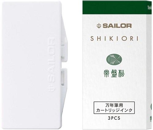 Sailor inkt cartridges Shikiori Tokiwa-Matsu (3 stuks)