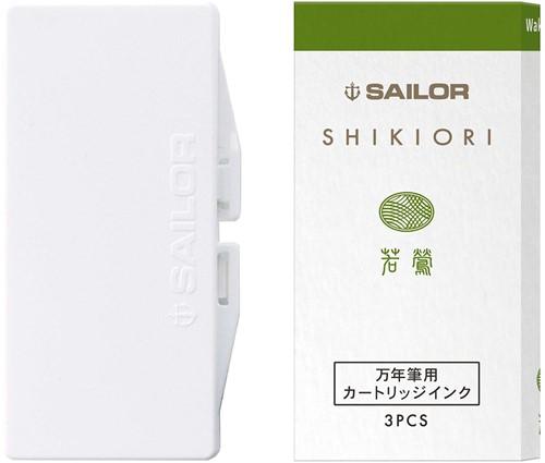 Sailor inkt cartridges Shikiori Waka Uguisu (3 stuks)