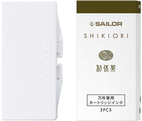 Sailor ink cartridges Shikiori Rikyu Cha (3 pcs)
