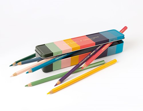 Caran d'Ache Supracolor Paul Smith Edition 3 soft pencils in metal case