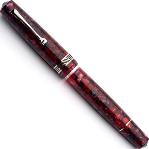 Leonardo Momento Magico Tramonto and rhodium trim fountain pen