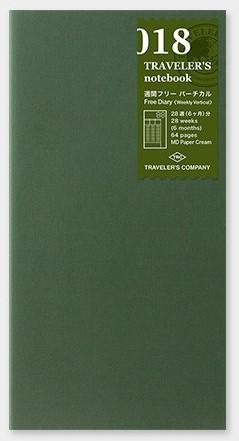 Traveler's 018 notebook diary Week